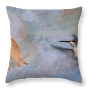 Ruby Throated Hummingbird 2 Throw Pillow