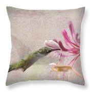 Ruby Throated Hummingbird #3 Throw Pillow