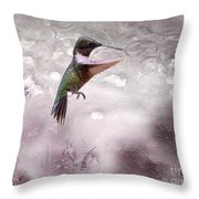 Ruby's Flight Throw Pillow by Cris Hayes