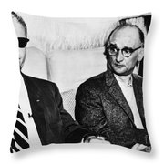 Rudolph Abel (1903-1971) Throw Pillow