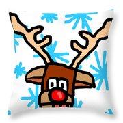 Rudolph's Portrait Throw Pillow by Jera Sky