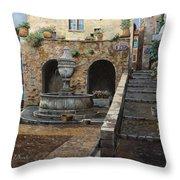 Rue Du Bresc A St Paul De Vence Throw Pillow