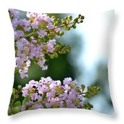 Ruffled Twins Throw Pillow
