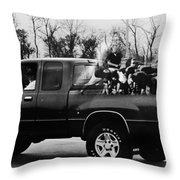 Rugby Truck Throw Pillow by Michael Ringwalt