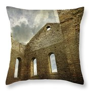 Ruins Of A Church In Ontario Throw Pillow by Sandra Cunningham