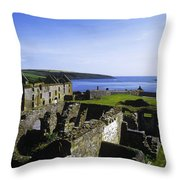 Ruins Of A Fort, Charles Fort, County Throw Pillow
