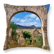 Ruins Of Mineral De Pozos Throw Pillow