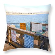 Rules Of The Pier  Throw Pillow