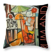 Rum And Poster Throw Pillow