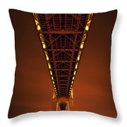Run Through The Night Throw Pillow