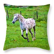 Running It Off Throw Pillow