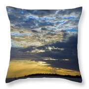Running Out At Sunset Throw Pillow