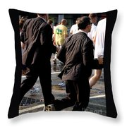 Running Suits Color Throw Pillow