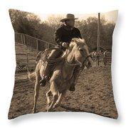 Running The Horse Throw Pillow