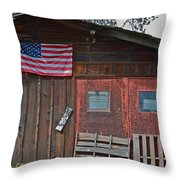 Rural Americana Throw Pillow