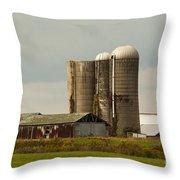 Rural Country Farm Throw Pillow