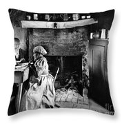 Rural Couple Eating, C1899 Throw Pillow