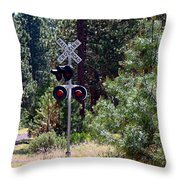 Rural Crossing Throw Pillow