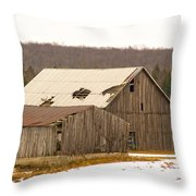Rural Ontario Farm Throw Pillow