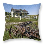 Rural Ontario Sketch Throw Pillow