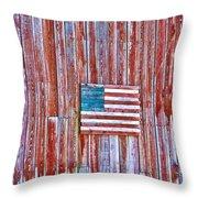 Rural Patriot Throw Pillow