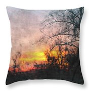 Rural Sunset  Art Throw Pillow