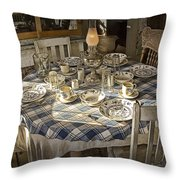 Rural Table Setting For Four No.3121 Throw Pillow