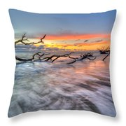 Rush Throw Pillow by Debra and Dave Vanderlaan