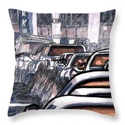 Rush Hour Approach To Midtown Tunnel Nyc Throw Pillow