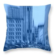 Rush Hour In Vancouver Throw Pillow