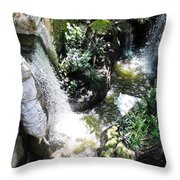 Rushing Green Throw Pillow