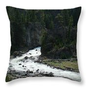 Rushing Thru The Mountains Throw Pillow