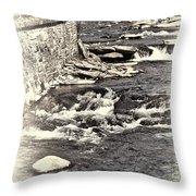 Rushing Water Cream Throw Pillow