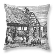 Russia: Famine, 1892 Throw Pillow