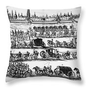 Russia: Procession, 1698 Throw Pillow