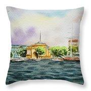 Russia Saint Petersburg Neva River Throw Pillow