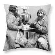 Russia: Samovar, C1860 Throw Pillow