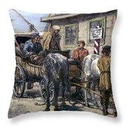 Russia: Siberia, 1882 Throw Pillow