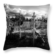 Russian Cemetery Throw Pillow
