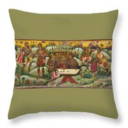 Russian Icon: Dice Players Throw Pillow
