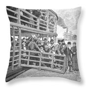 Russian Immigrants, 1892 Throw Pillow