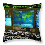 Russian Mission Control Center Throw Pillow by Nasa