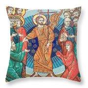 Russian Mosaic Icon Throw Pillow