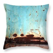 Rust And Paint 1 Throw Pillow