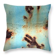 Rust And Paint 2 Throw Pillow
