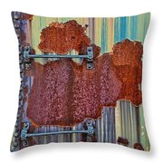 Rusted Art Throw Pillow