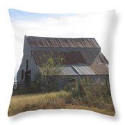 Rusted Barn Throw Pillow