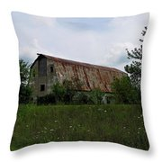Rusted Barn Roof Throw Pillow