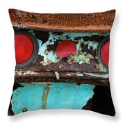 Rusted Blue Taillight Throw Pillow