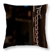 Rusted Chain Lock - Color Throw Pillow